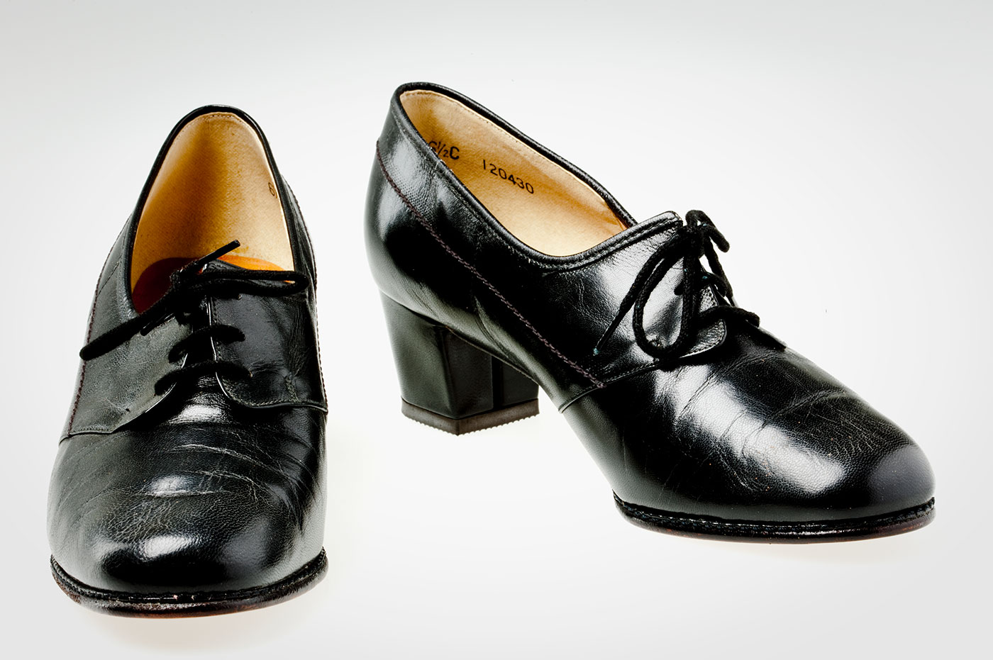 Pair of polished leather shoes. - click to view larger image