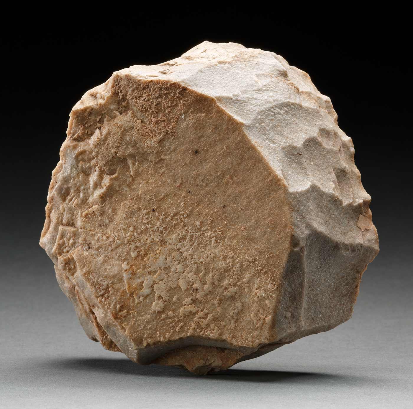 Quartzite stone core.