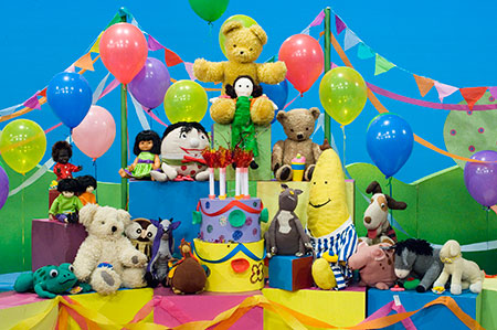 a colour photo of toys from Playschool