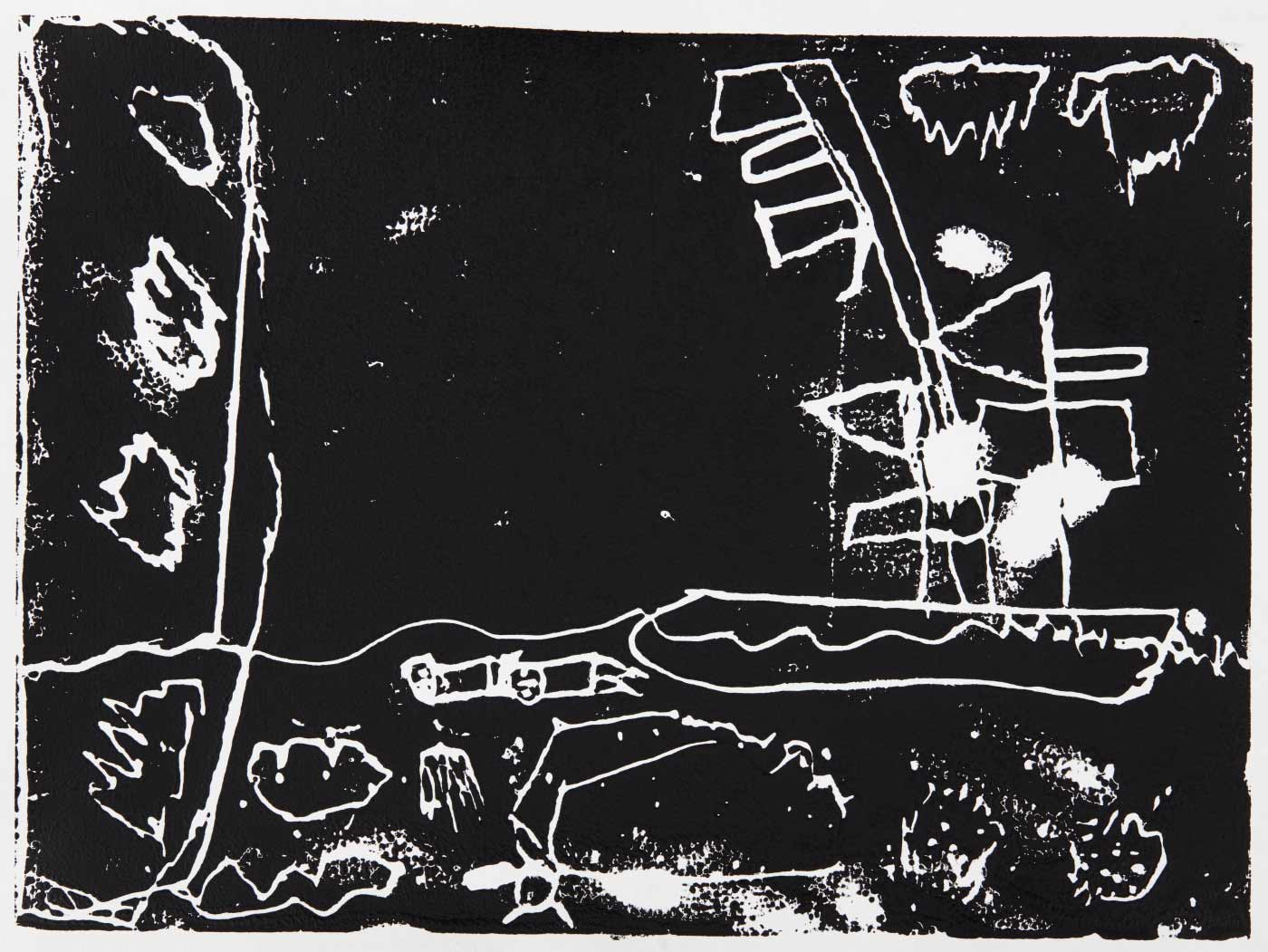 Print, black ink on white paper, depicting a ship on the water. Annotated in pencil 'Clay'. - click to view larger image