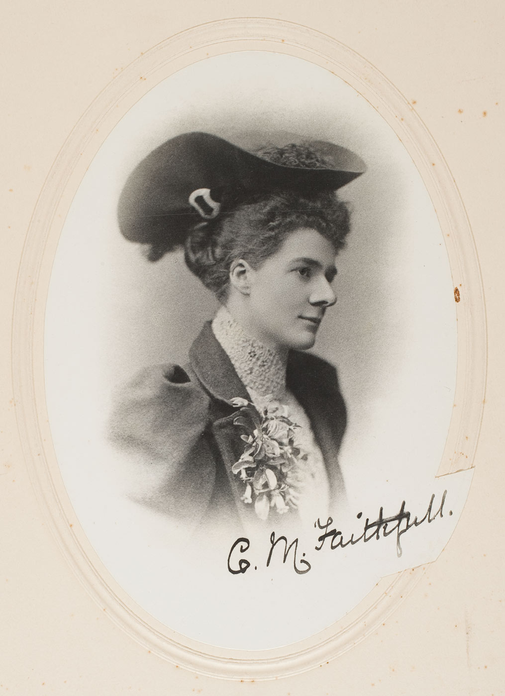 Portrait of Constance Mary Faithfull. - click to view larger image