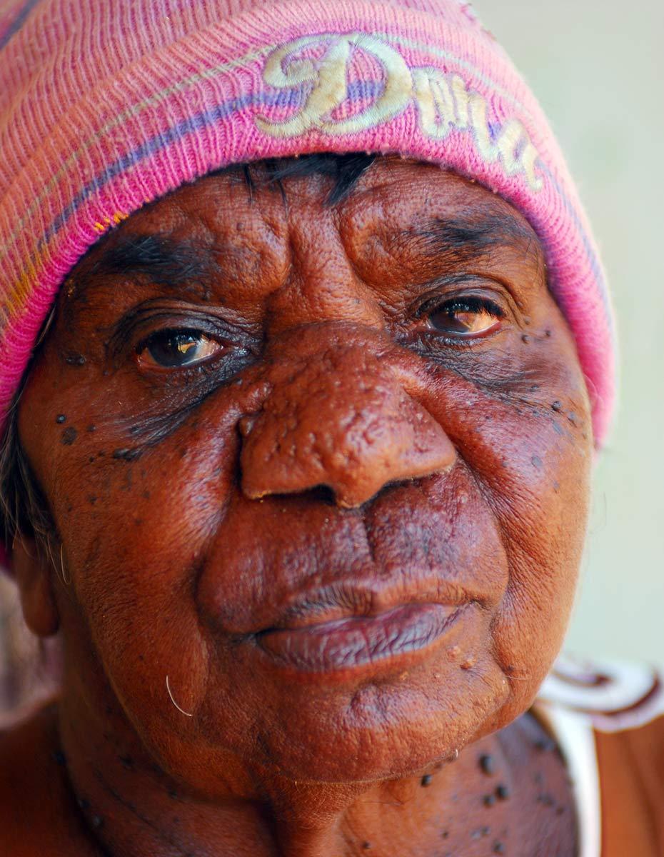 Portrait of Kumpaya Girgaba. - click to view larger image
