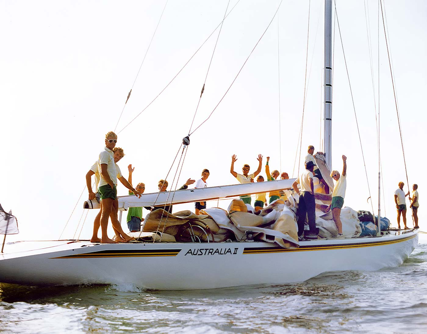 A yacht and crew