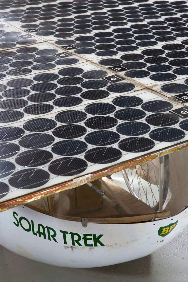 Detail of solar panel cells. - click to view larger image