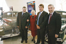 Craddock Morton, Mary Munckton, Ian Metherall and Senator Gary Humphries with the Essington Lewis Holden and Holden prototype.