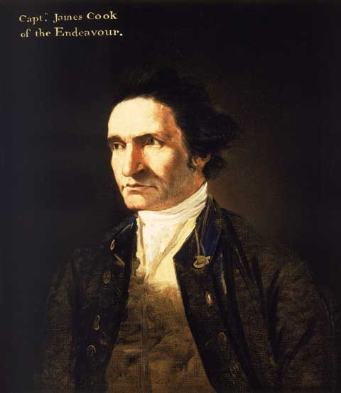 Portrait of Captain James Cook by artist William Hodges in about 1775.