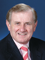 A colour portrait photograph of Simon Crean.