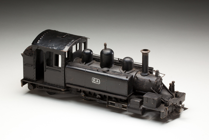 Victorian Railways narrow-gauge locomotive, made from pressed and cast metals by Ron Titchener