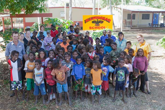 Staff and students of Jilkminggan School, Northern Territory