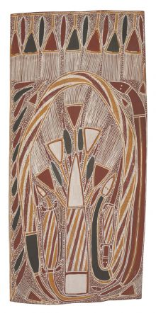 Wurrdjarra ga Marrma' Wititj ga Marrma' Djarrka (Sand Palm and Fronds with Two Snakes and Two Goannas