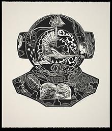 Au Karem ar Araigi le (Deep Sea Diver), by Ellarose Savage, 2012, National Museum of Australia