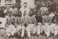 photo collage of Aboriginal cricketers