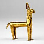 gold llama statue