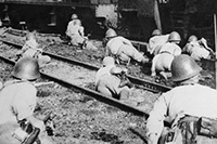 Japanese soldiers in Singapore. Courtesy Australian War Memorial