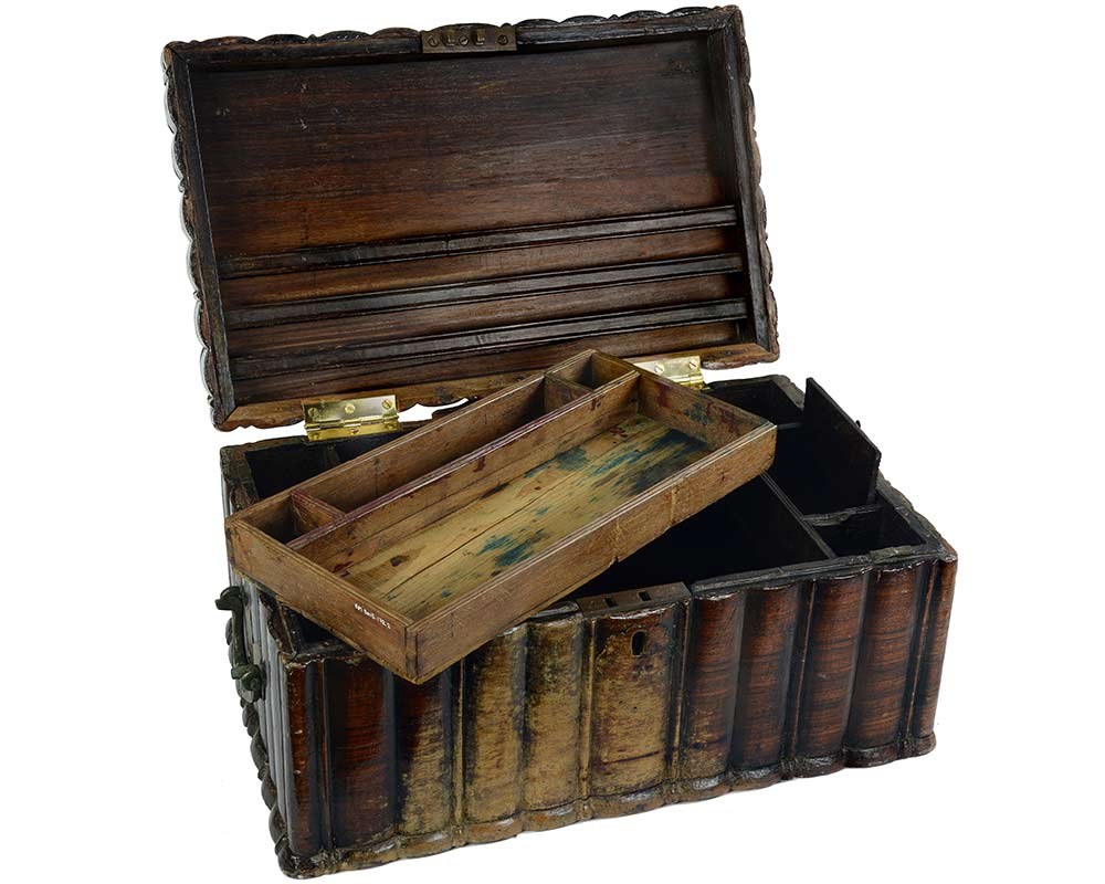 A chest made from hardwood and copper alloy - click to view larger image