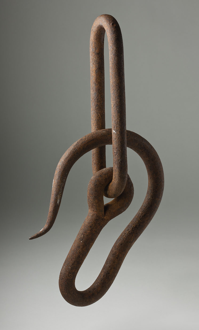 Rusted metal hook. - click to view larger image