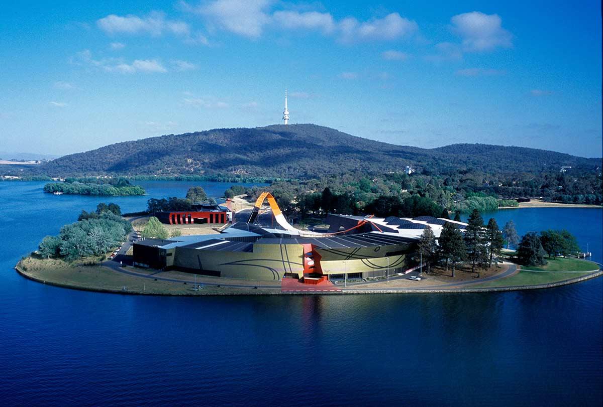 The National Museum of Australia on Acton Peninsula.