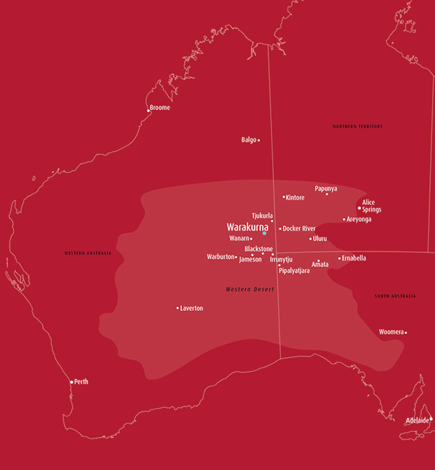 Map of Warakurna - click to view larger image