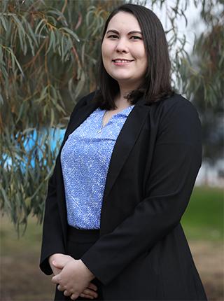 A portrait photo of Kyra Edwards