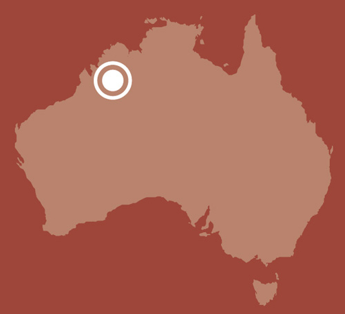 Map of Australia showing location of West Kimberley.