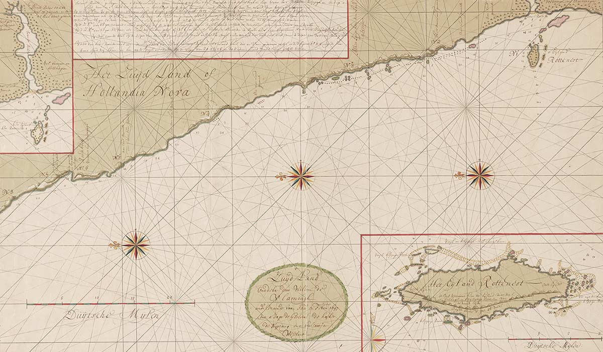 Map of the coast of Western Australia. - click to view larger image