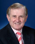 A colour photograph of Simon Crean MP