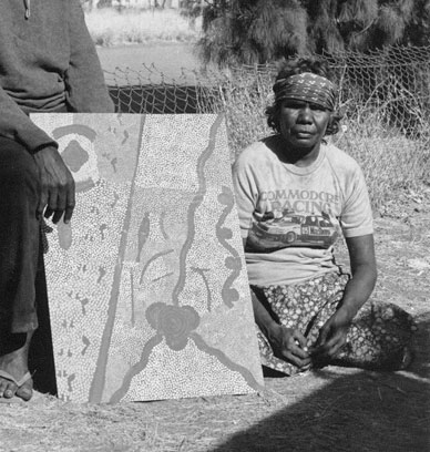 Portrait photo of an Aboriginal Australian woman.