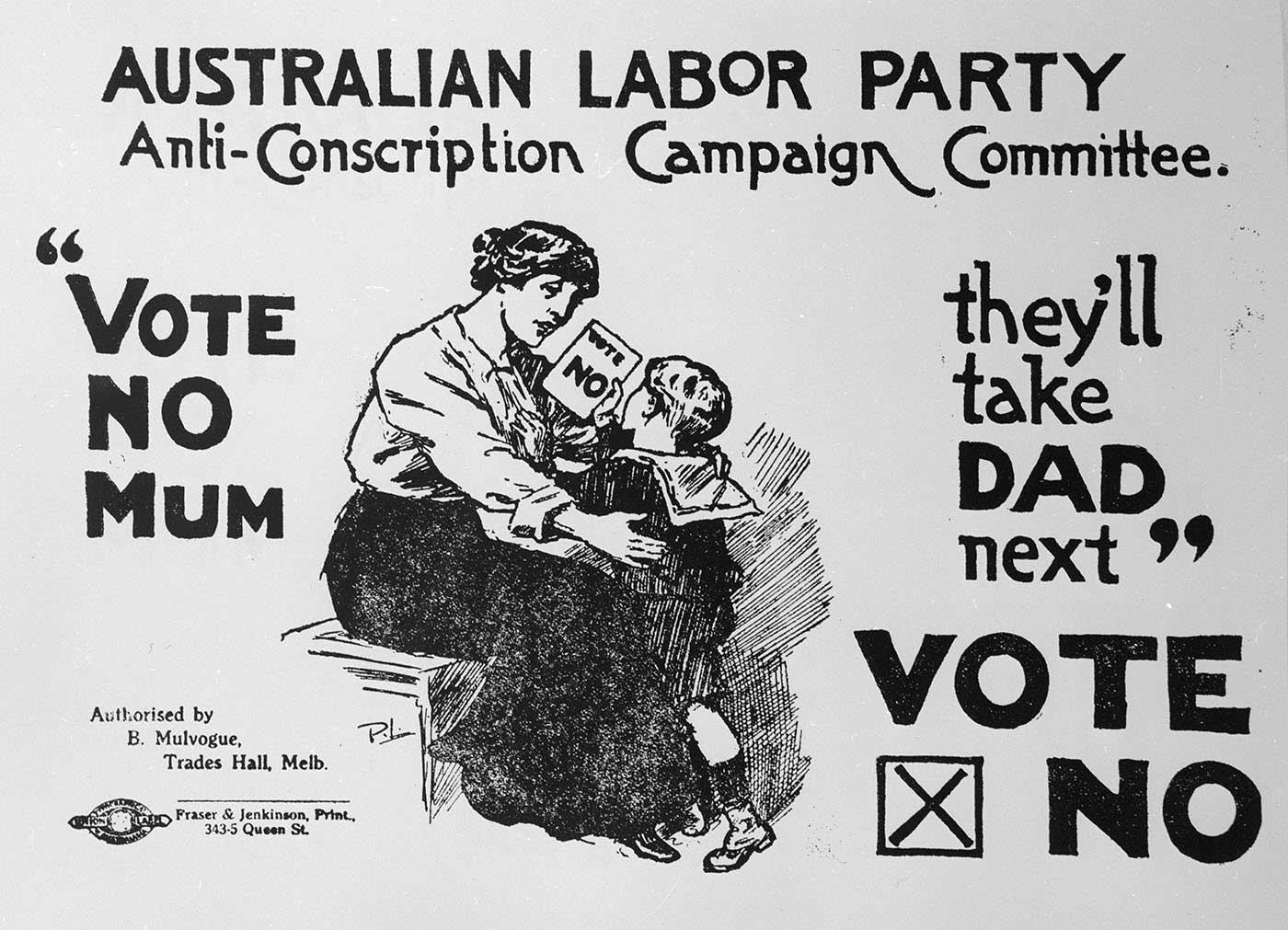 Anti-conscription ad for the Australian Labor Party