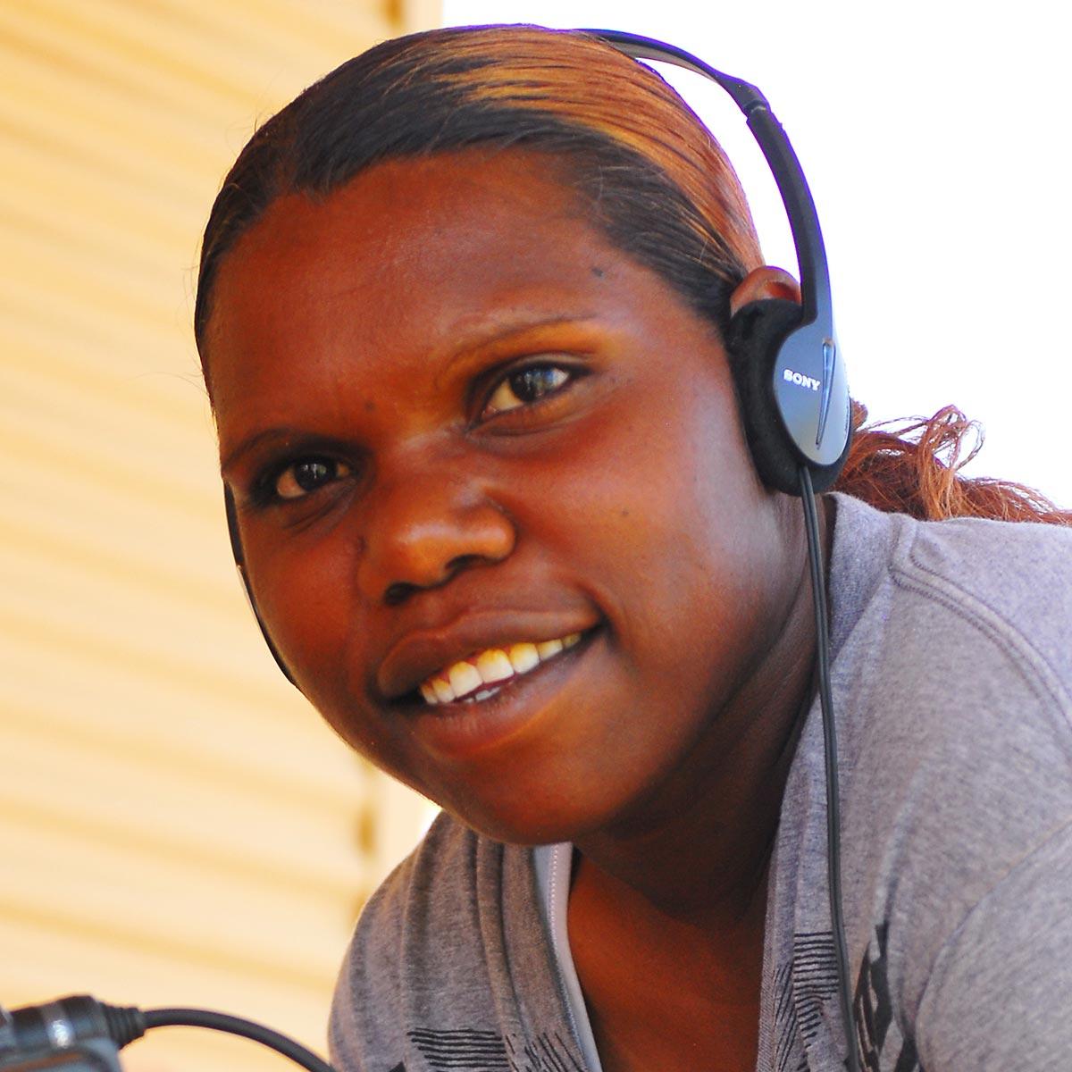 Portrait of Morika Biljabu. - click to view larger image
