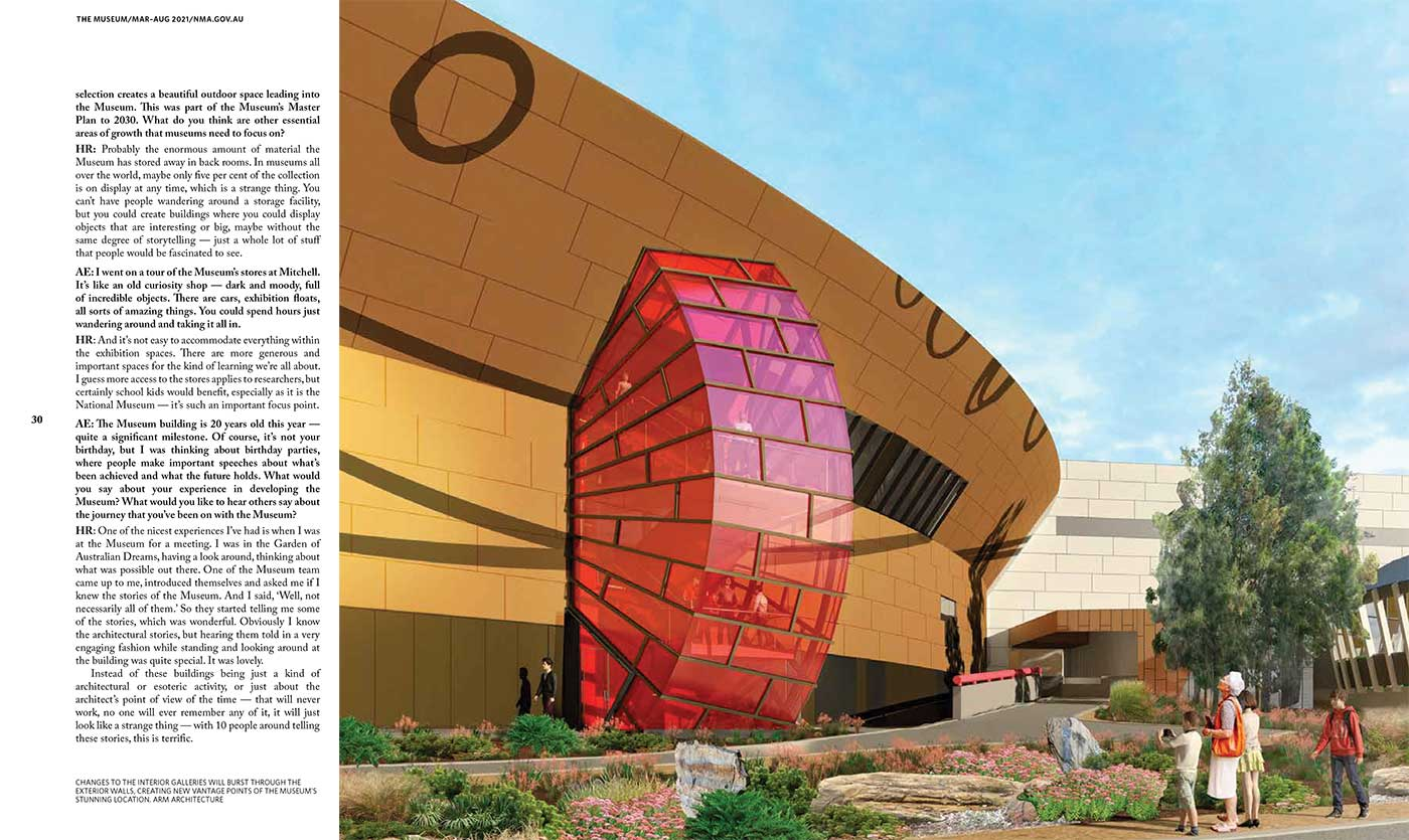 Spread from the National Museum of Australia's 'The Museum' magazine  - click to view larger image