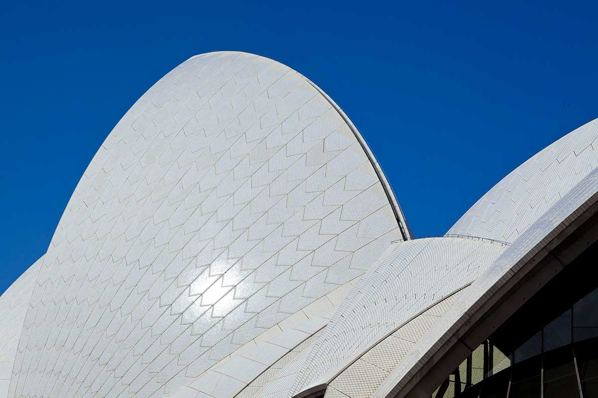 Close up of the Sydney Opera House. - click to view larger image