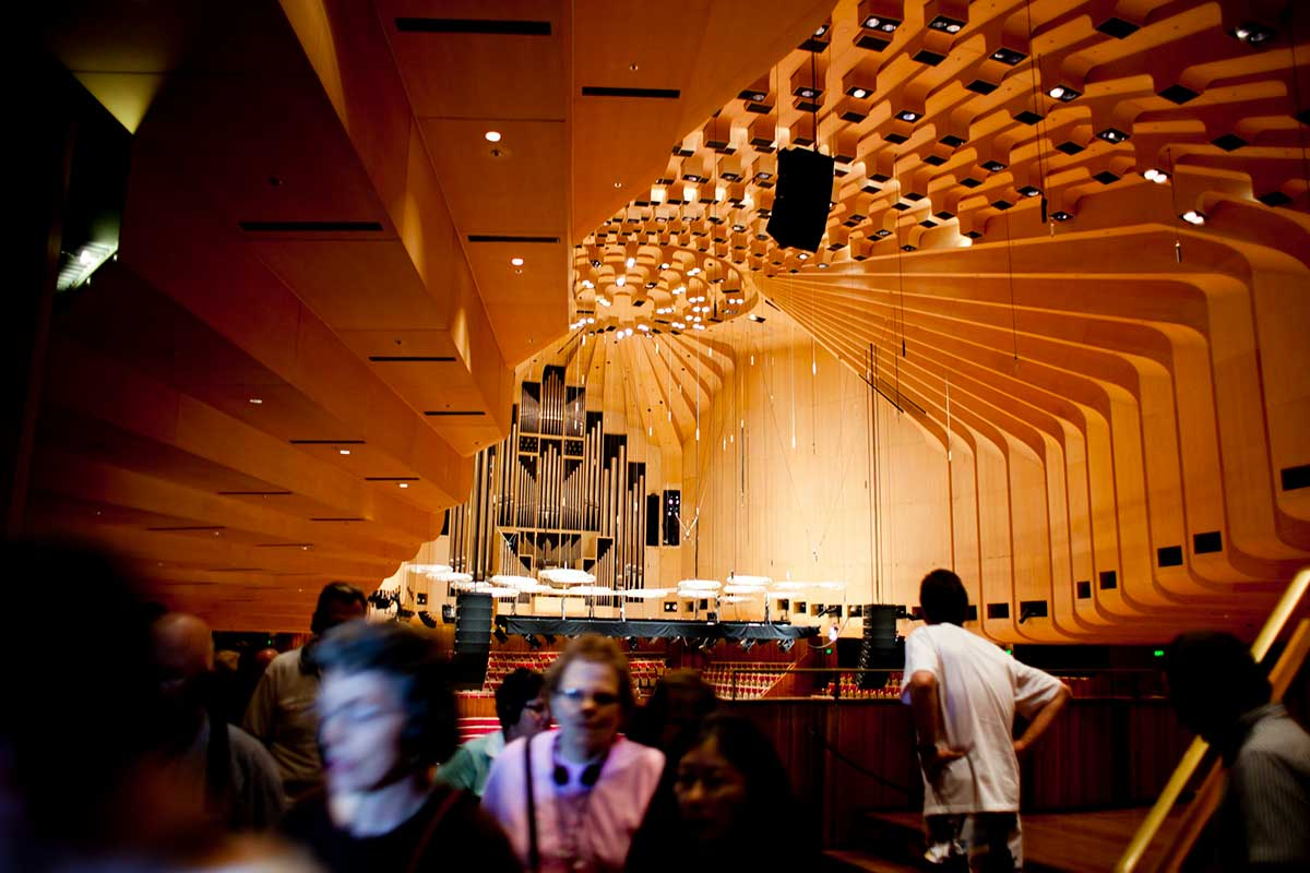 Interior view of the Sydney Opera House. - click to view larger image