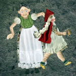 Quilt depicting Little Red Riding Hood