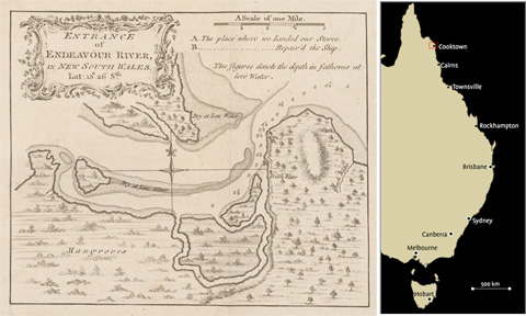 Cook's chart of the Endeavour River