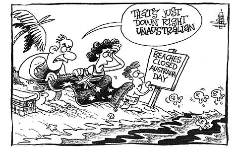 Cartoon by Harry Bruce