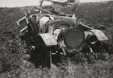 Abandoned wreck of the Delaunay-Belleville tourer
