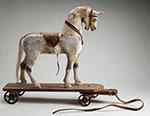 White pull horse