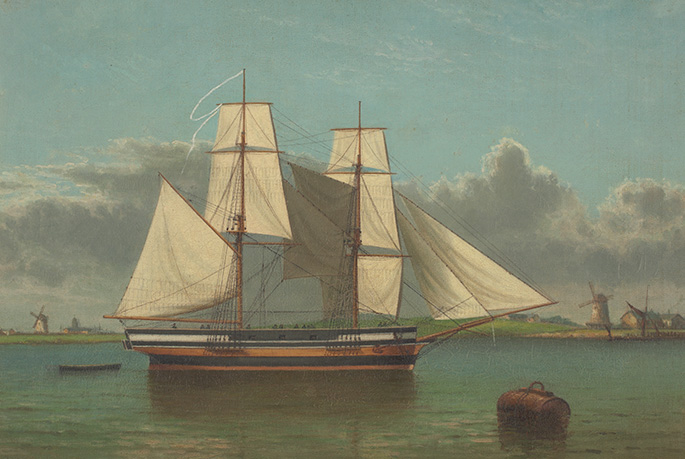 A painting of the Lady Nelson.