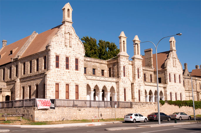 The Fremantle Arts Centre, formerly the lunatic asylum, which was built by convict labour.