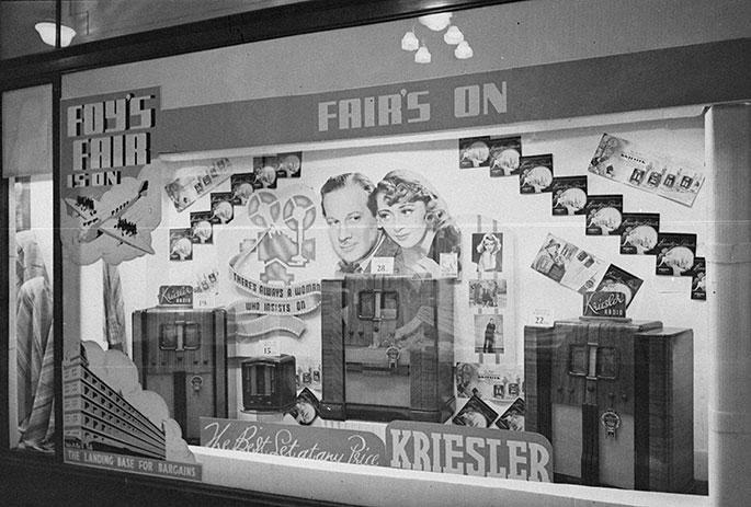 Kriesler Radio display at Mark Foy's department store