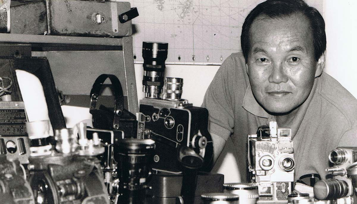 Willie Phua with his camera collection