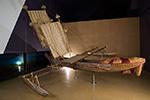 a double outrigger canoe