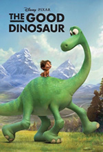 a poster image of the children's movie, a Good Dinosaur