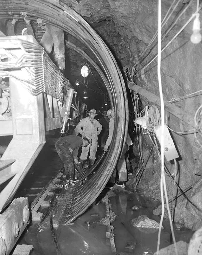 Photo of tunnel in Snowy Mountains Hydro scheme