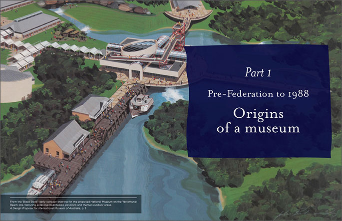 Screenshot of Part 1 of the book: Origins of a museum.