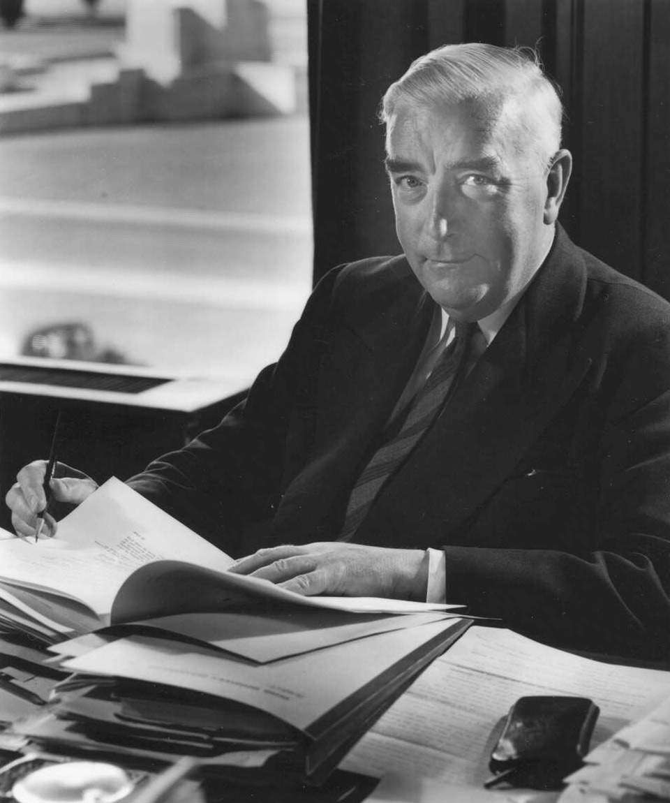 Portrait of Sir Robert Menzies. - click to view larger image