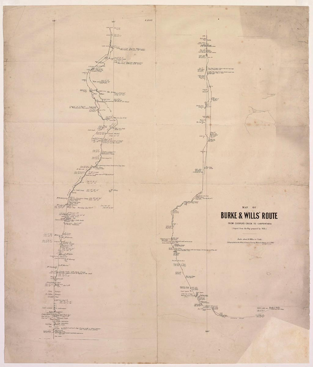 Map in black ink on white paper which is stained. The map is set in a buff-coloured mat, with has a thin clear plastic window. - click to view larger image