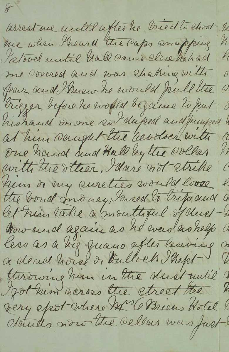 Page eight of Ned Kelly's Jerilderie letter. - click to view larger image