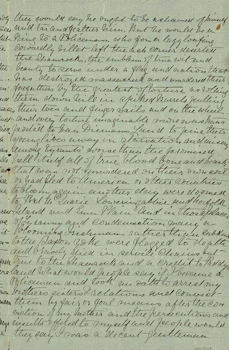 Page thirty one of Ned Kelly's Jerilderie letter. - click to view larger image