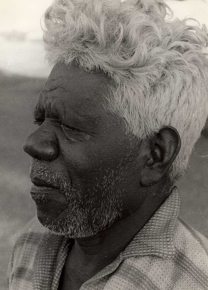 Black and white portrait of a man. - click to view larger image